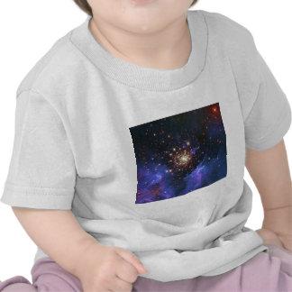 Glittering Star Cluster and Interstellar Gas Cloud Shirt