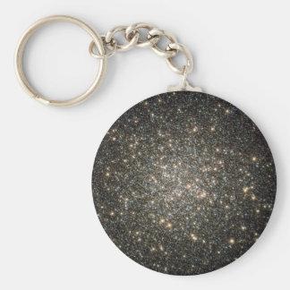 Glittering Stars Basic Round Button Keychain