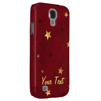 Glittering stars Royal Red Samsung S4 Case