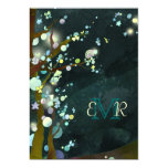 "Glittering Trees in Elven Forest Monogram Wedding 5"" X 7"" Invitation Card"