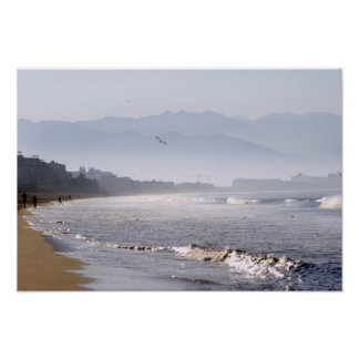 Glittering Waves on Bucerias Beach Poster
