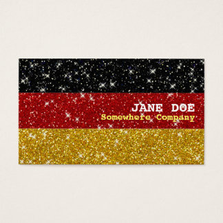Glitters Germany Flag with Sparkles Business Card