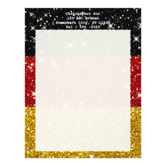 Glitters Germany Flag with Sparkles Letterhead