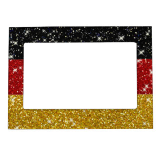 Glitters Germany Flag with Sparkles Magnetic Frame