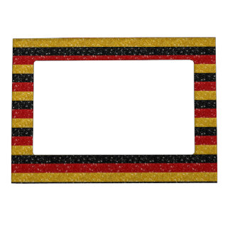 Glitters Germany Flag with Sparkles Magnetic Photo Frame