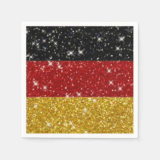 Glitters Germany Flag with Sparkles Napkin