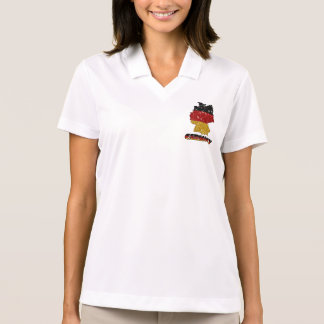 Glitters Germany Flag with Sparkles Polo Shirt