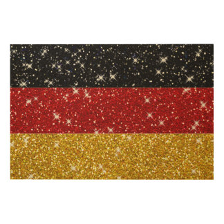 Glitters Germany Flag with Sparkles Wood Print
