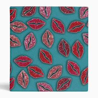 Glitters Pink Lips Glitters Red Lips Binder