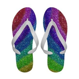 Glitters Rainbow Flip Flops