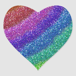 Glitters Rainbow Heart Sticker