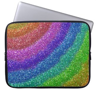 Glitters Rainbow Laptop Sleeve