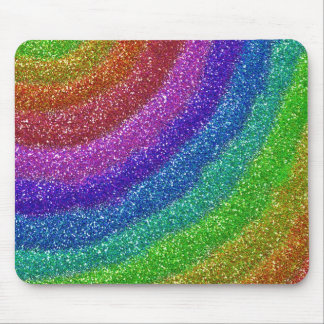 Glitters Rainbow Mouse Pad