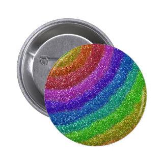 Glitters Rainbow Pinback Button