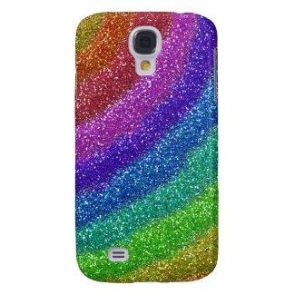 Glitters Rainbow Samsung Galaxy S4 Covers