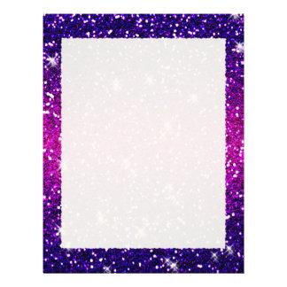 Glitters Sparkles Purple Pink Texture Letterhead