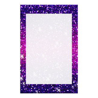 Glitters Sparkles Purple Pink Texture Stationery