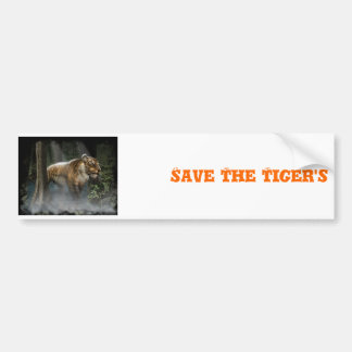 glitterTIGERBACKGROUND4ZOO, Save The Tiger's Bumper Sticker