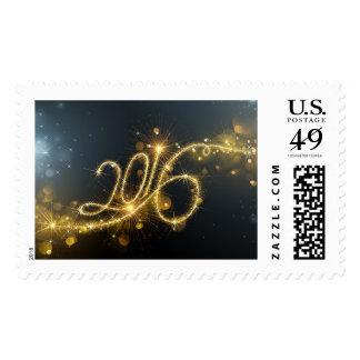 Glittery 2016 postage stamp