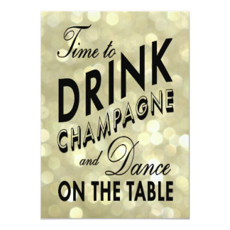 Glittery 40th Birthday Time to Drink Champagne Card