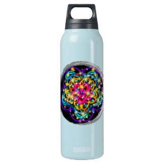 Glittery Abstract Kaleidoscope Art Insulated Water Bottle