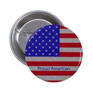 Glittery American Flag Button