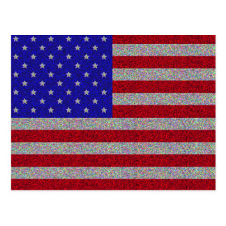 Glittery American Flag Postcard