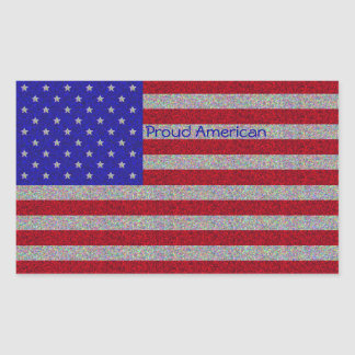 Glittery American Flag Stickers