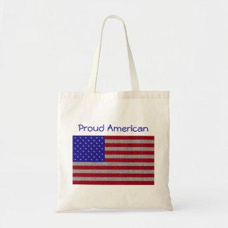 Glittery American Flag Tote Bag