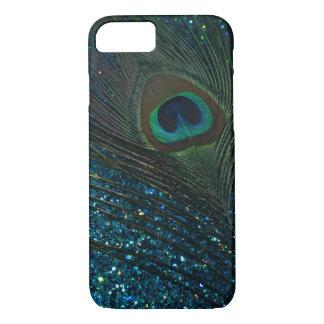 Glittery Aqua Peacock iPhone 8/7 Case