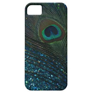 Glittery Aqua Peacock iPhone SE/5/5s Case
