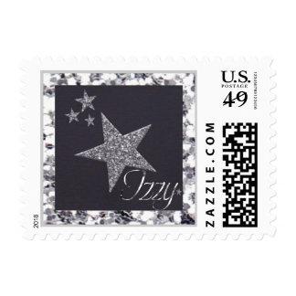 glittery background, izzy stamp star cluster