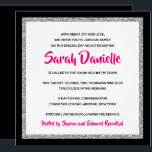 """Glittery Bat Mitzvah Pink, Black and Silver Square Invitation<br><div class=""""desc"""">This trendy Bat Mitzvah invitation features sparkling faux glitter layered against a solid color background.  Use the template form to add your own information.  The """"Customize"""" feature can be used to change the font style,  color and layout.</div>"""