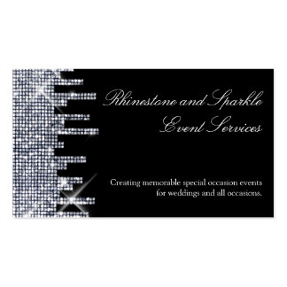 Glittery Black/Silver Glamour Business Card