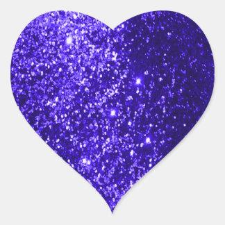 Glittery Blue Heart Sticker
