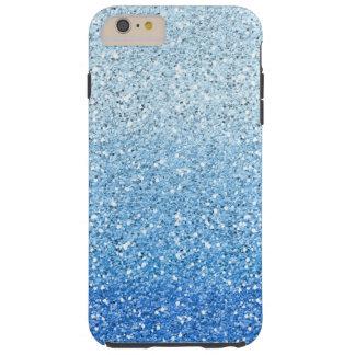 Glittery Blue Ombre Spectrum Tough iPhone 6 Plus Case