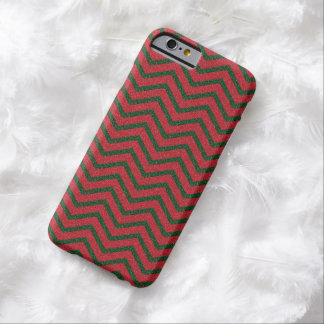 Glittery Christmas Chevron Barely There iPhone 6 Case