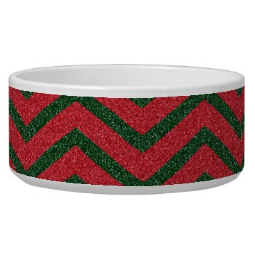 Christmas Themed Glittery Christmas Chevron Bowl
