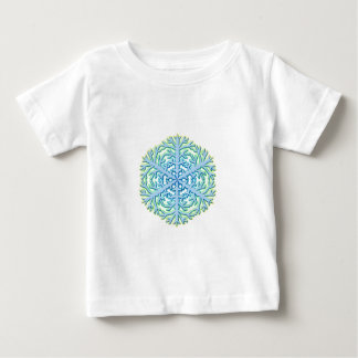 Glittery Christmas Snowflake Ice Crystal Baby T-Shirt