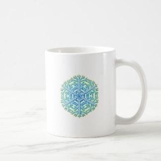 Glittery Christmas Snowflake Ice Crystal Coffee Mug