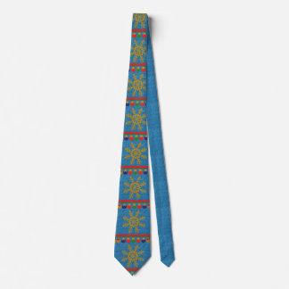 Glittery Christmas Snowflakes Men's Dress Tie