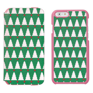 Glittery Christmas Trees iPhone 6/6s Wallet Case