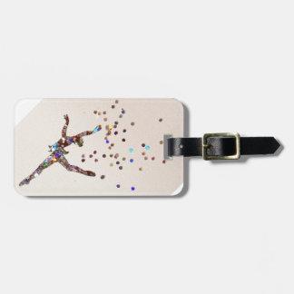 Glittery Dancer Travel Bag Tag
