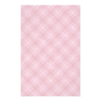 Glittery Deep Pink Gingham Plaid Stationery