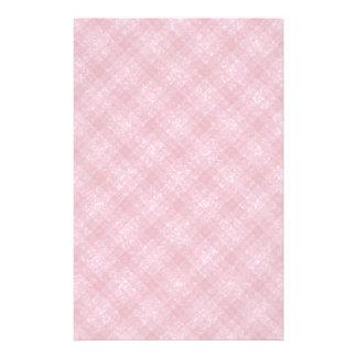 Glittery Deep Pink Gingham Plaid Stationery