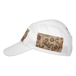 Glittery Earthtone Floral Tapestry Hat