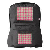 Glittery Easter Tartan Plaid Backpack
