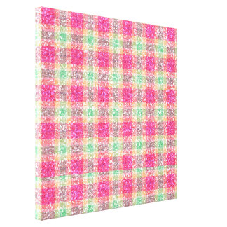 Glittery Easter Tartan Plaid Canvas Print