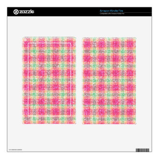 Glittery Easter Tartan Plaid Decal For Kindle Fire