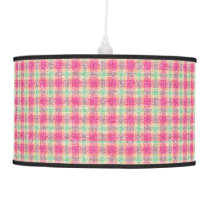 Glittery Easter Tartan Plaid Hanging Lamp